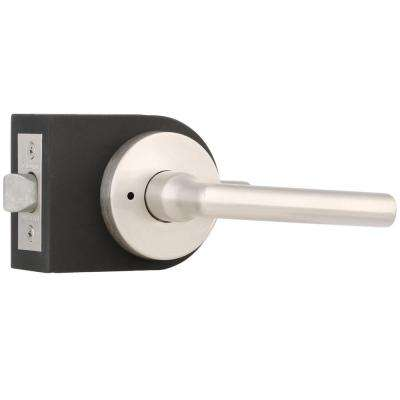 Reserve Tube Satin Nickel Bed/Bath Door Lever with Contemporary Round Rose