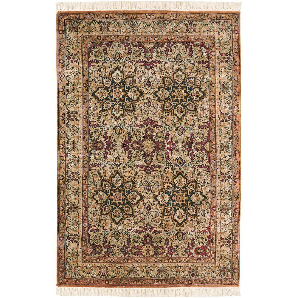 Artistic Weavers Udaipur Burgundy 3 ft. 6 in. x 5 ft. 6 in. Area Rug