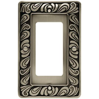 Pewter 1-Gang Decorator/Rocker Wall Plate (1-Pack)