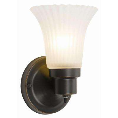 1-Light Oil Rubbed Bronze Vanity Sconce