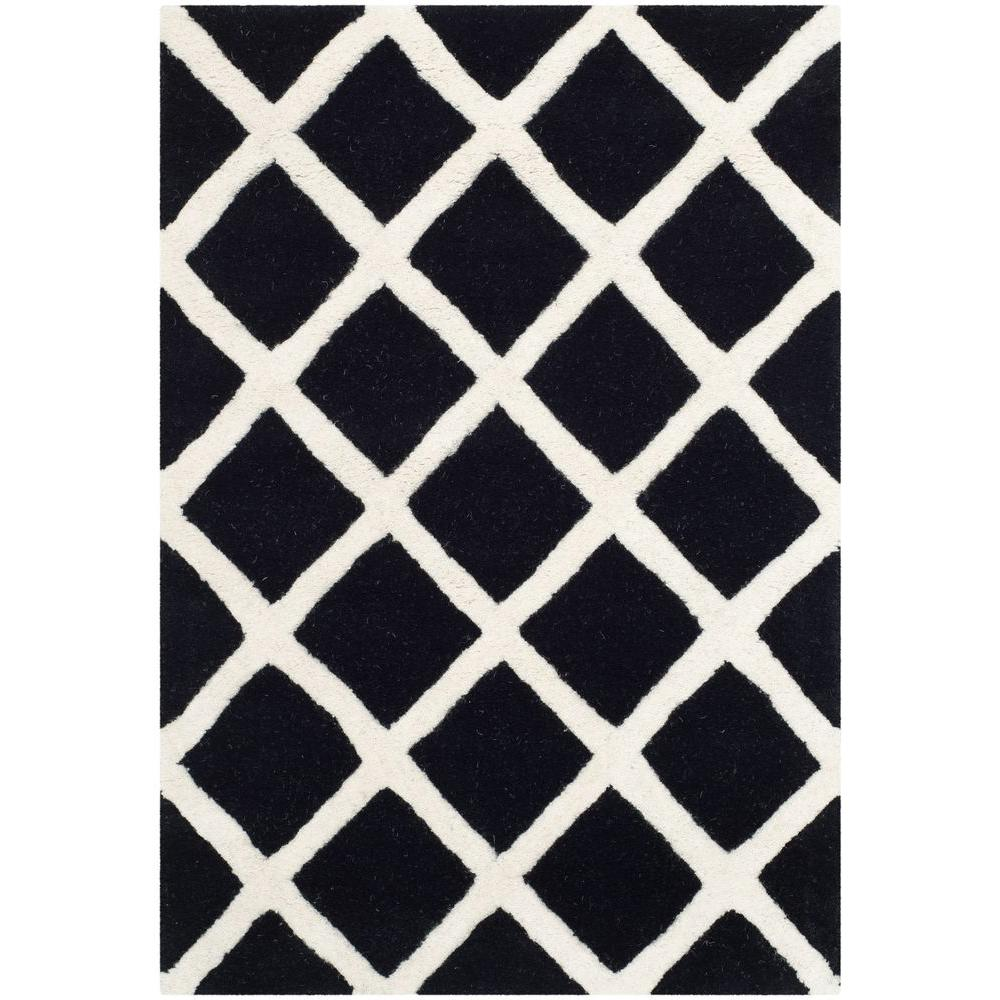 Safavieh Chatham Black/Ivory 2 ft. x 3 ft. Area Rug