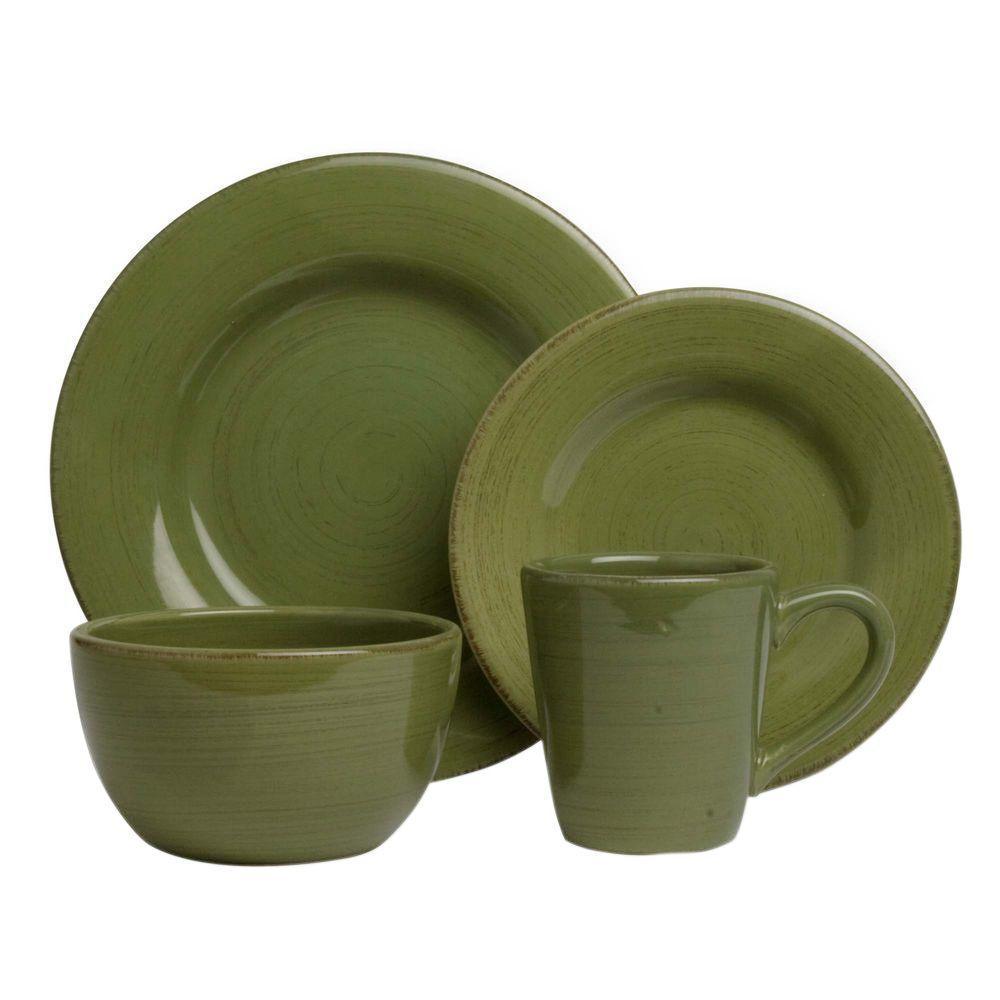 Sonoma 16-Piece Dinnerware Set in Celadon  sc 1 st  The Home Depot & Green - Dinnerware Sets - Dinnerware - The Home Depot