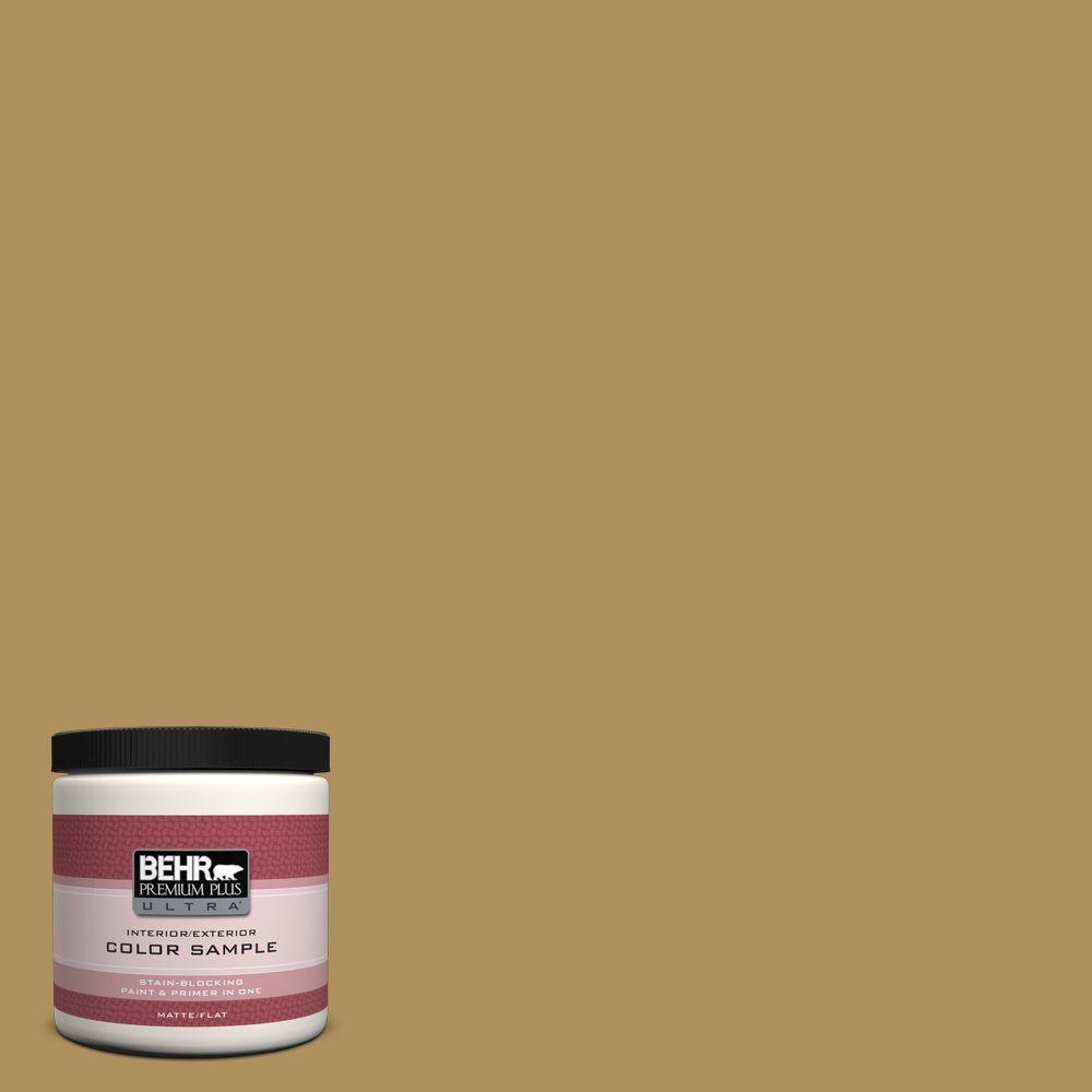 BEHR Premium Plus Ultra 8 oz. #S310-5 Brazilian Citrine Interior/Exterior Paint Sample