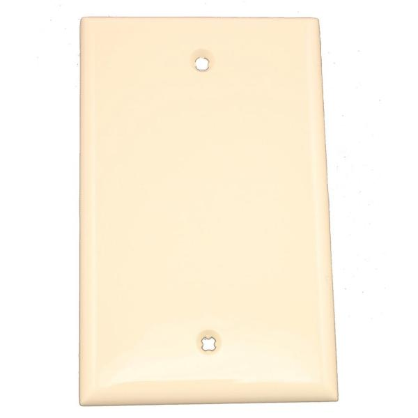 Almond 1-Gang Blank Plate Wall Plate (1-Pack)
