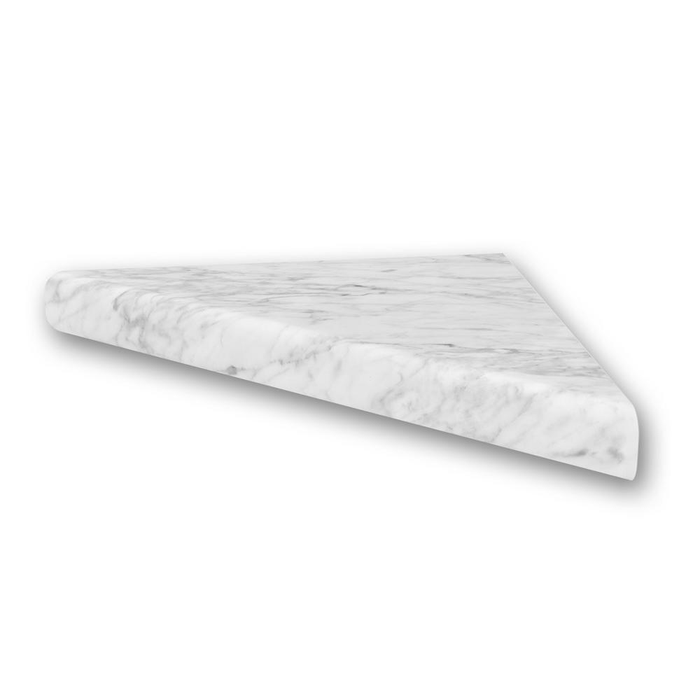 FlexStone 15 In. Corner Shelf Niche In Frost-FLXCSB15FR