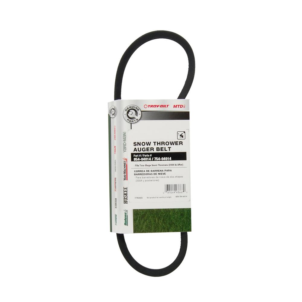 Compact 2-stage Snowthrower Blower DRIVE BELT replaces MTD 754-04013 954-04013