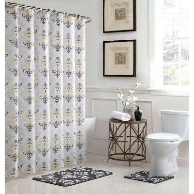 L Bath Rug Set And 72 In