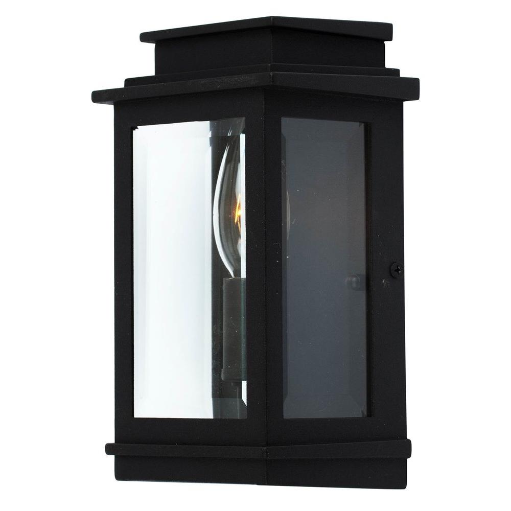 ARTCRAFT Moravia 1-Light Black Outdoor Sconce