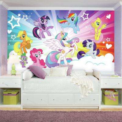 72 in. x 126 in. My Little Pony Cloud XL Chair Rail Prepasted Wall Mural (7-Panel)