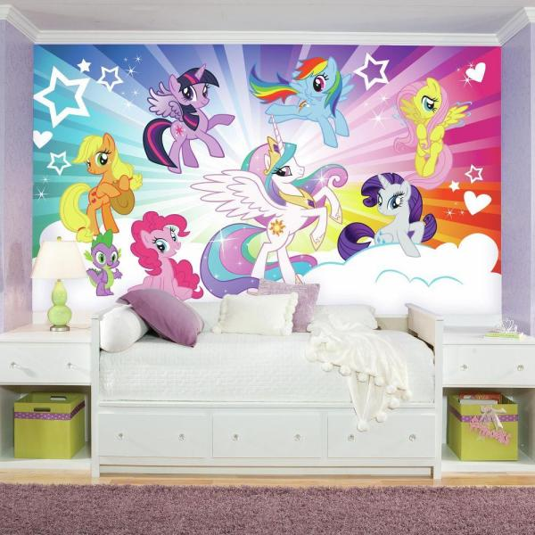 Roommates 72 In X 126 In My Little Pony Cloud Xl Chair Rail