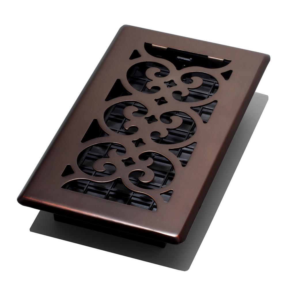 Decor Grates 4 In X 8 Scroll