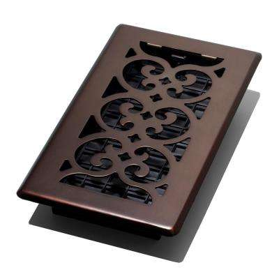 4 in. x 8 in. Scroll Plated Bronze Register