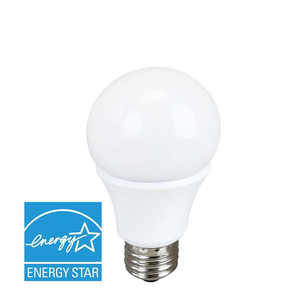 60W Equivalent Cool White A19 Dimmable LED Light Bulb