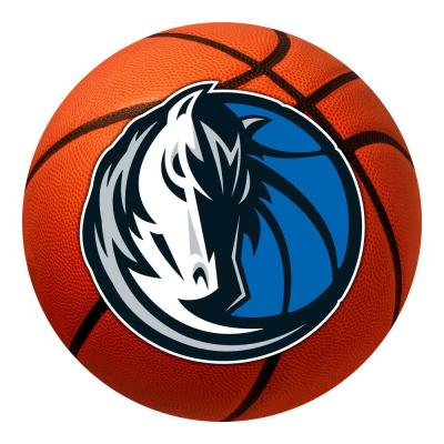 NBA - Dallas Mavericks Photorealistic 27 in. Round Basketball Mat