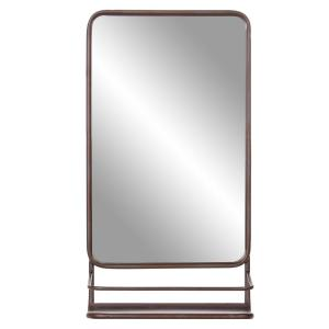 Medium Rectangle Bronze Modern Mirror (39.75 in. H x 16.00 in. W)