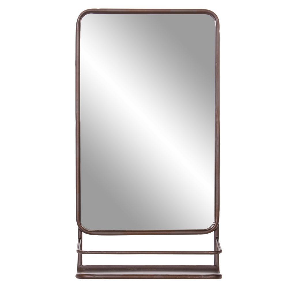 Medium Rectangle Bronze Modern Mirror (39.75 in. H x 16.00 in. W)
