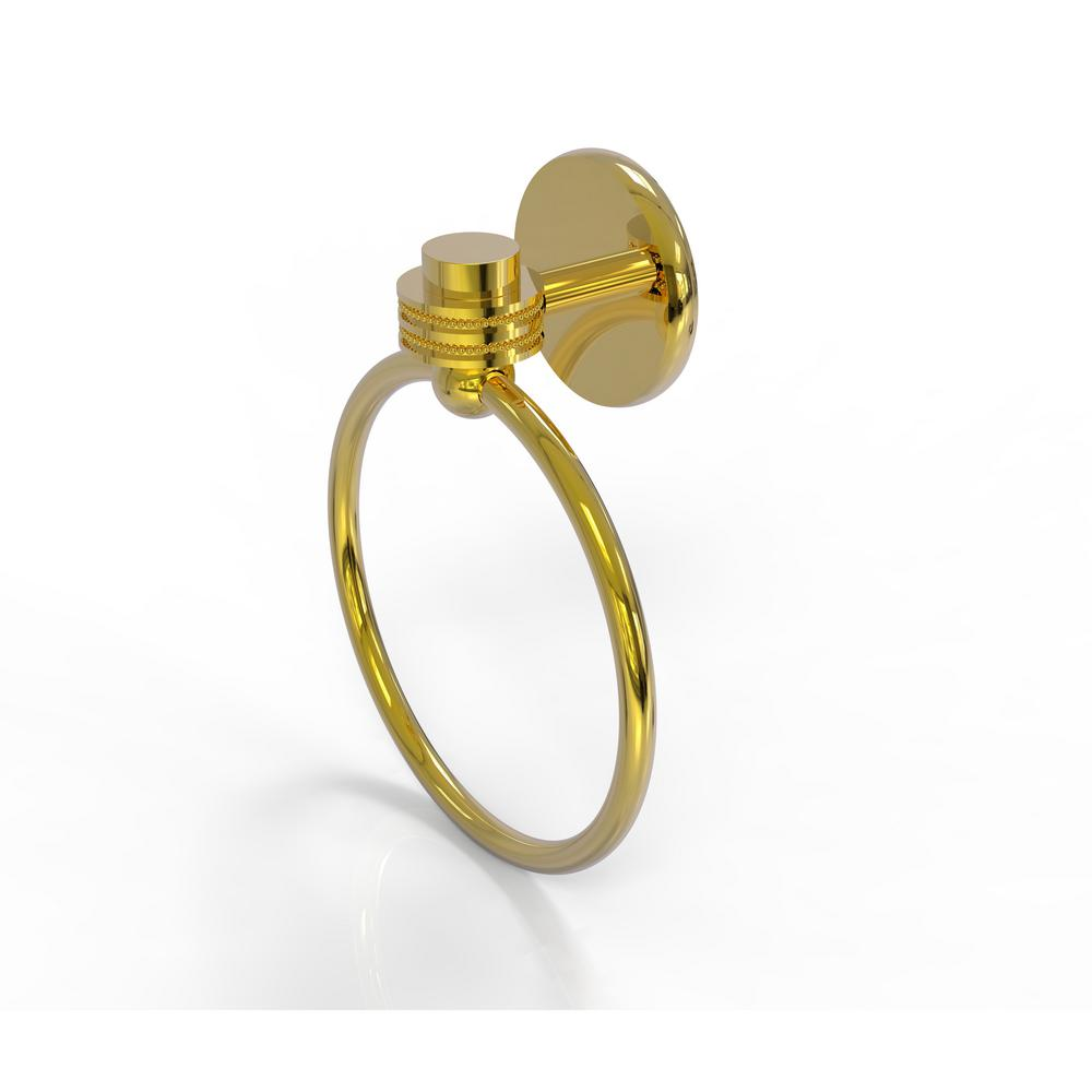 Satellite Orbit One Collection Towel Ring with Dotted Accent in Polished