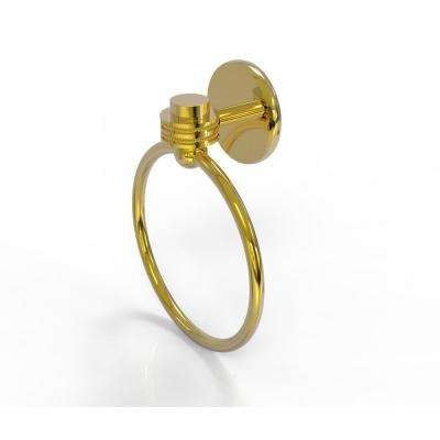 Satellite Orbit One Collection Towel Ring with Dotted Accent in Polished Brass
