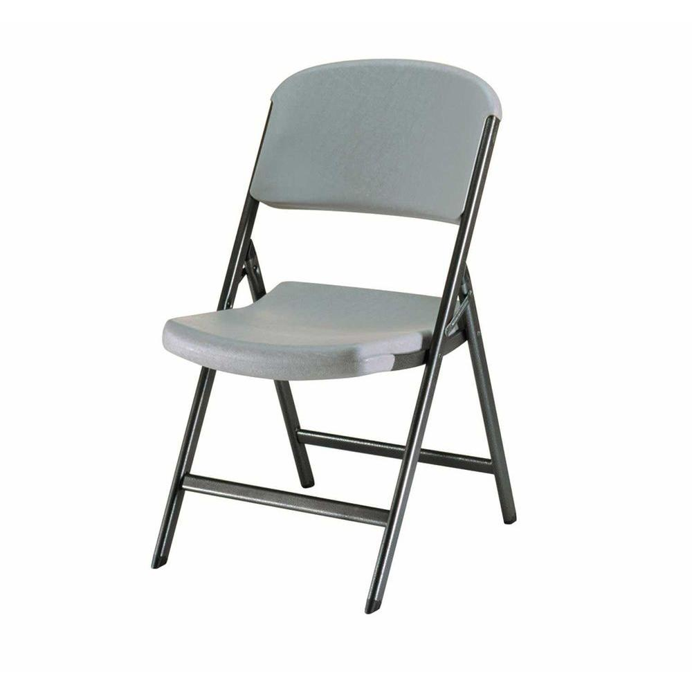 Lifetime Putty Metal Outdoor Safe Folding Chair Set Of 4