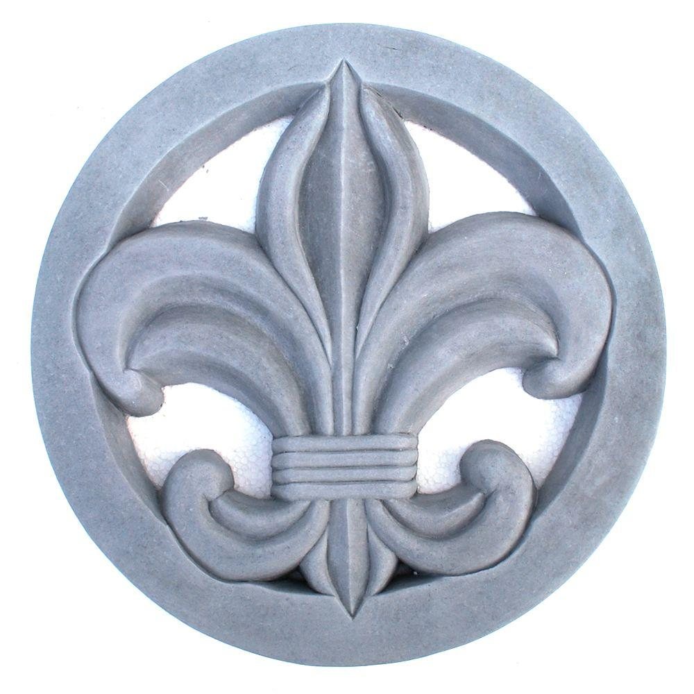 NICHOLS BROS. STONE Cast Stone Fleur-De-Lis Stepstone Antique Gray Step in style with this classic design of French Royalty. The Fleur-De-Lis Stepstone is delicate and stylish in design, but functions beautifully creating a walkway or as an accent step.