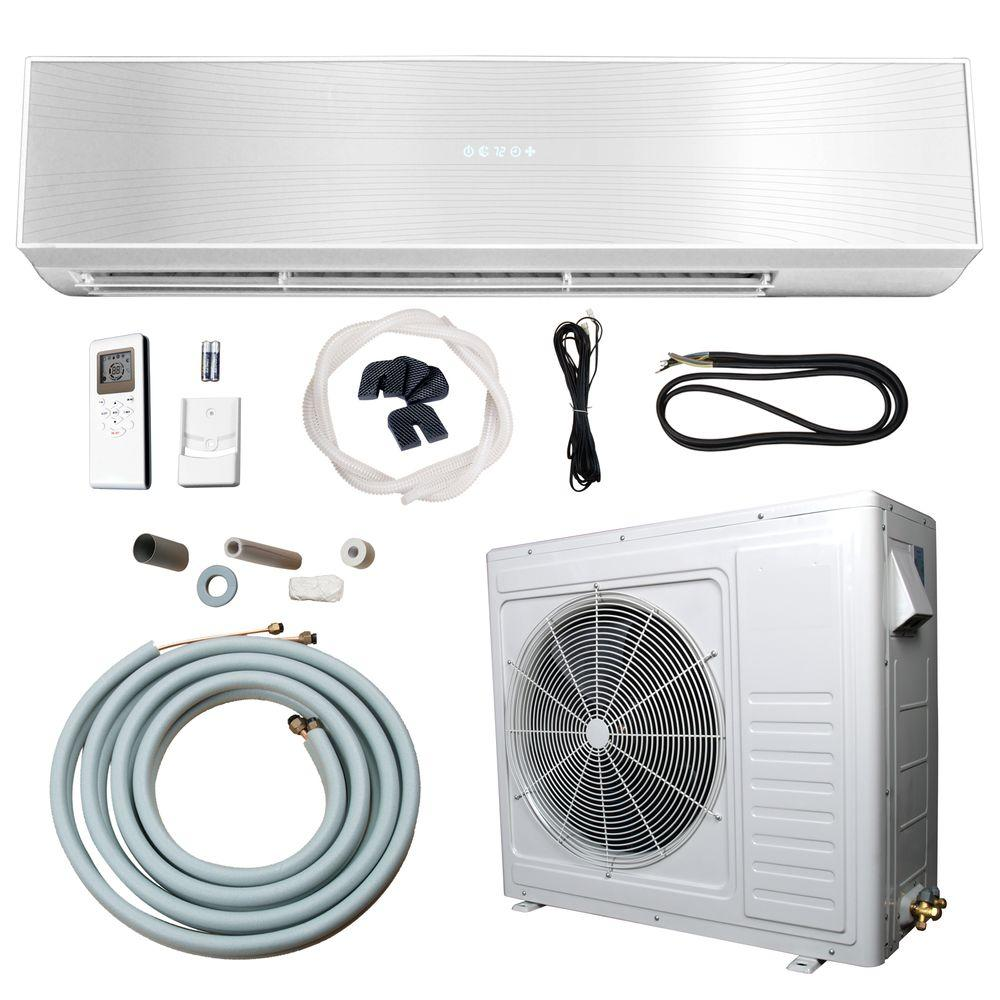 24,000 BTU 2 Ton Ductless Mini Split Air Conditioner and Heat Pump - 220V/60Hz, White