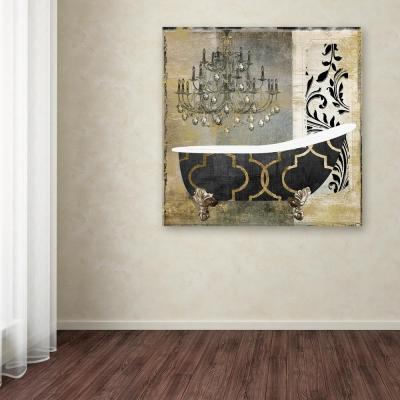 """14 in. x 14 in. """"Paris Bath II"""" by Color Bakery Printed Canvas Wall Art"""