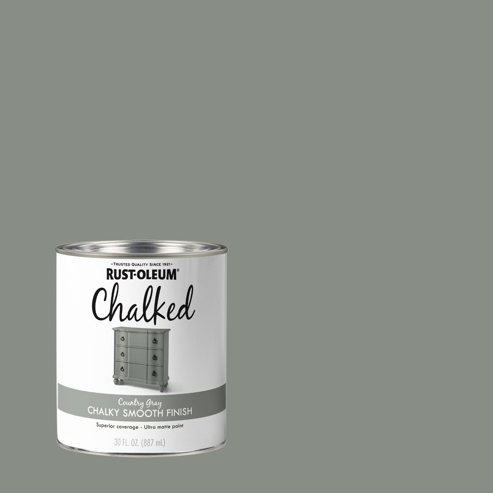 Rust-Oleum 30 oz. Country Gray Ultra Matte Interior Chalked Paint (2 Pack)