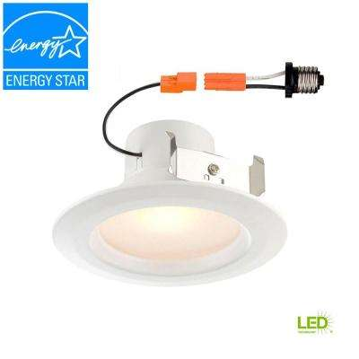 Standard Retrofit 4 in. White Recessed Trim Day LED Ceiling Light with 92 CRI, 5000K