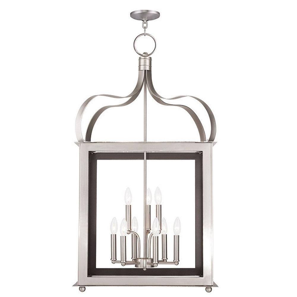 Livex Lighting Garfield 9-Light Brushed Nickel Pendant