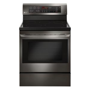 Electric Range With Convection Oven In Black Stainless Steel