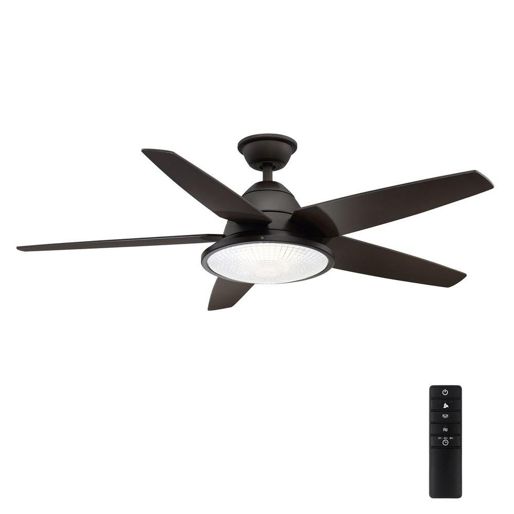 HomeDecoratorsCollection Home Decorators Collection Berwick 52 in. LED Outdoor Espresso Bronze Ceiling Fan with Light
