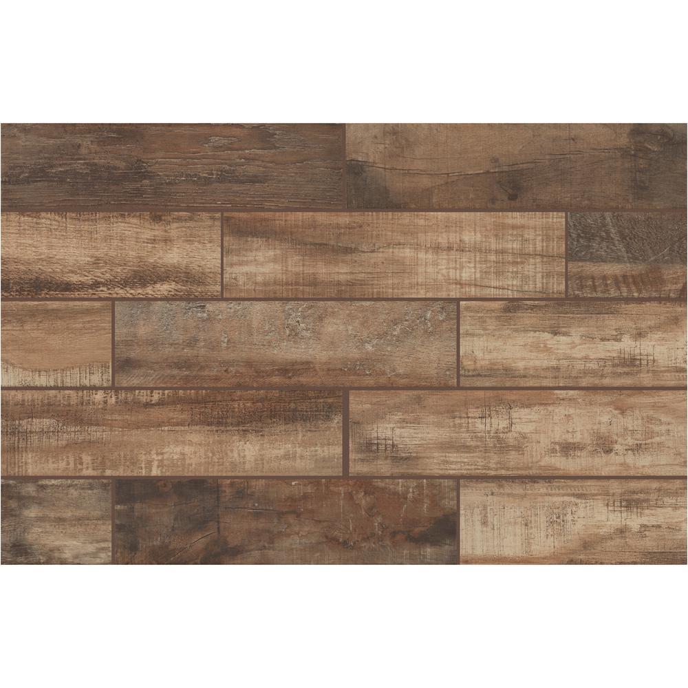 N Florida Tile Home Collection Wind River Beige 6 In X 24 Porcelain Floor