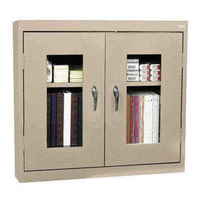 30 in. H x 36 in. W x 12 in. D Clear View Wall Cabinet in Tropic Sand