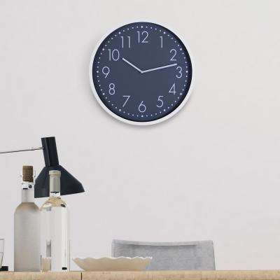 Essential Round White and Gray Wall Clock