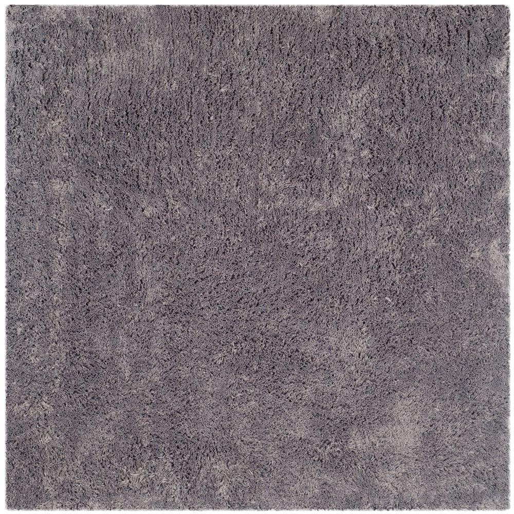 Classic Shag Ultra Gray 7 ft. x 7 ft. Square Area