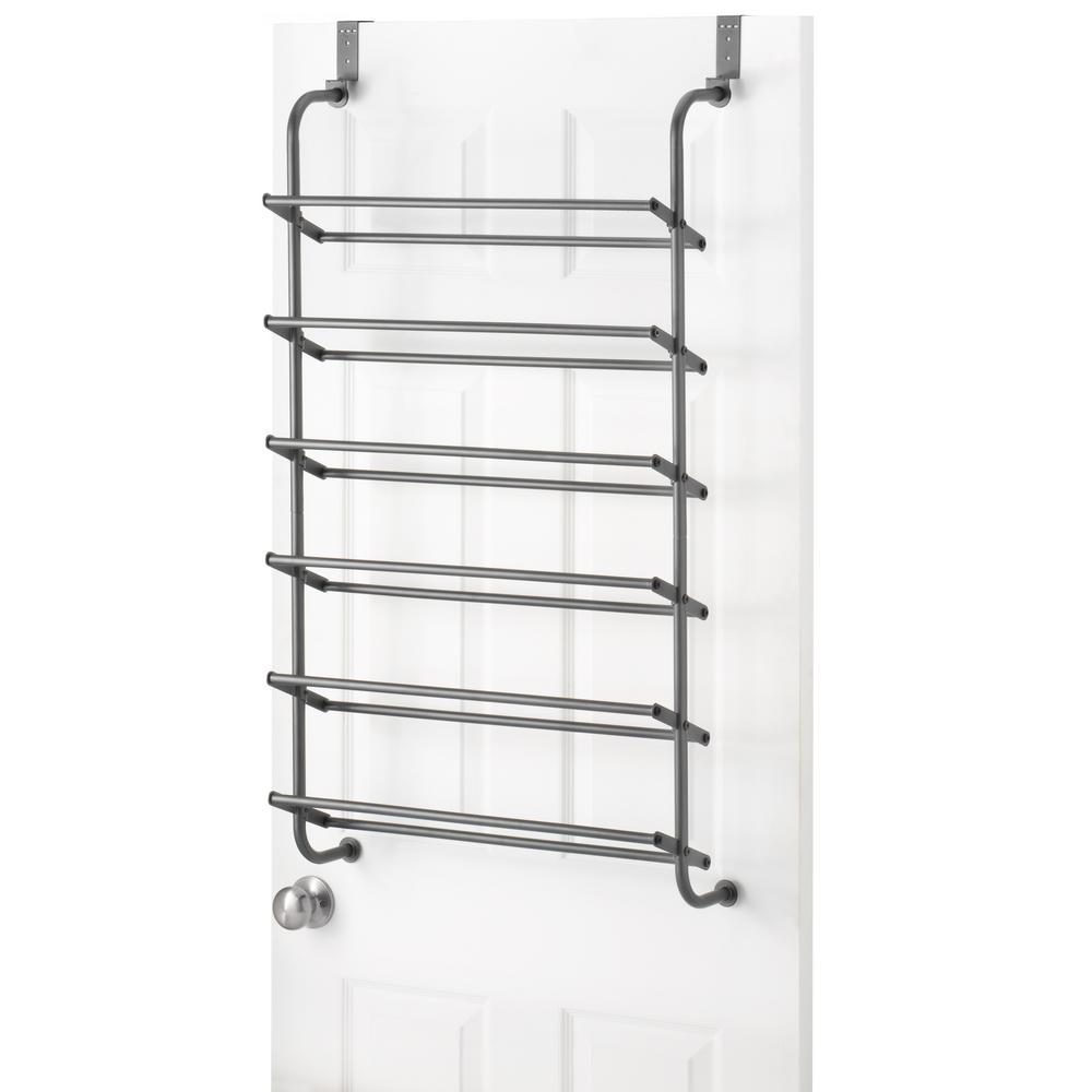 Whitmor Shoe Rack Collection 22.63 In X 41.8 In 18 Pair Metal Over The
