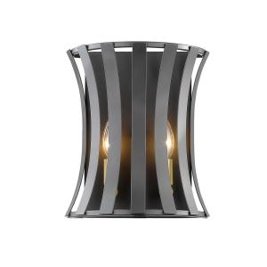 carmella 2light bronze gold wall sconce with bronze gold steel shade