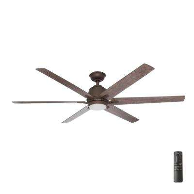 Kensgrove 64 in. LED Espresso Bronze Ceiling Fan with Remote Control