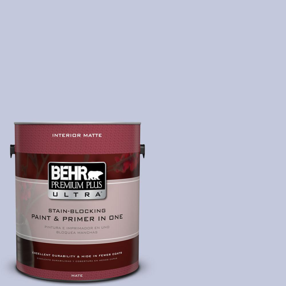 1 gal. #600E-3 Icy Brook Flat/Matte Interior Paint