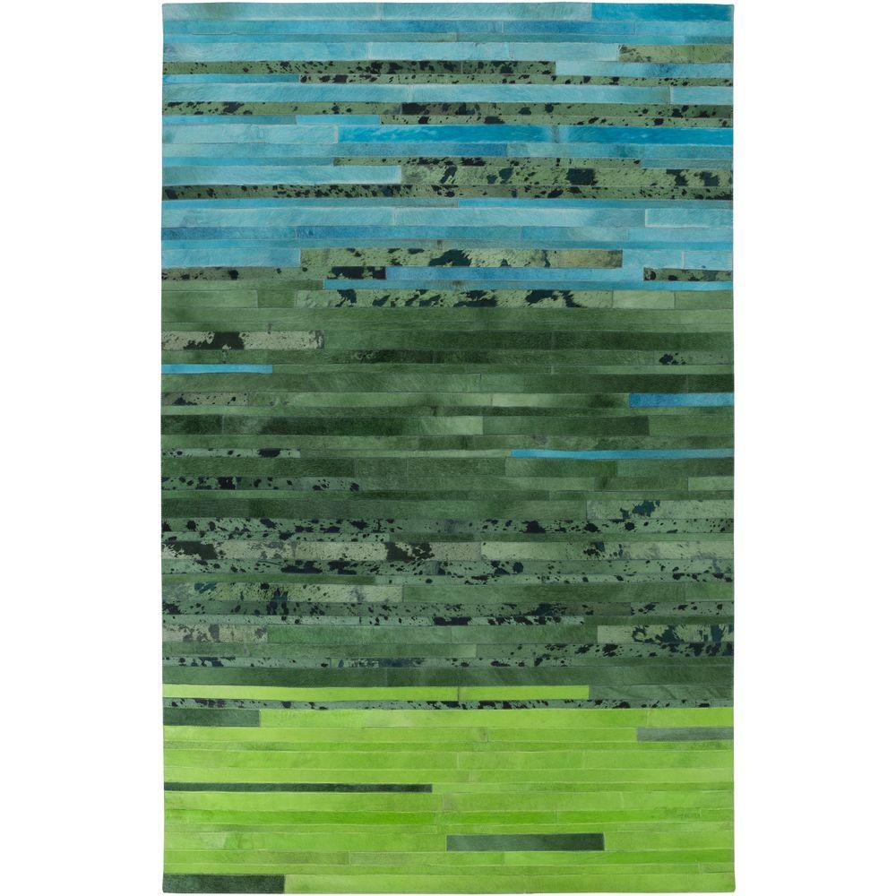 Crockett Emerald 5 ft. x 8 ft. Indoor Area Rug
