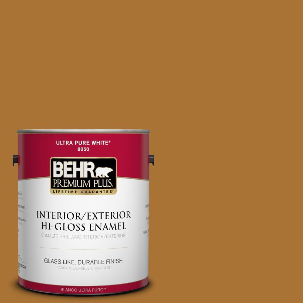 1-gal. #310D-7 Mayan Gold Hi-Gloss Enamel Interior/Exterior Paint