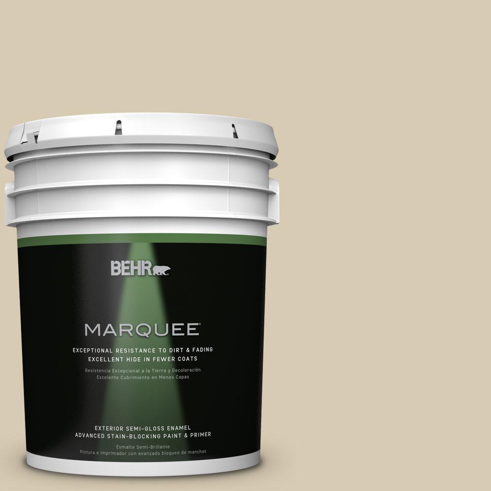 BEHR MARQUEE 5-gal. #QE-27 Estate Limestone Semi-Gloss Enamel Exterior Paint