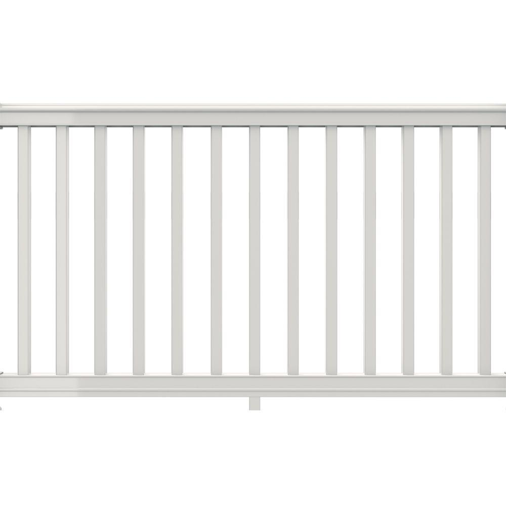 6 ft. x 42 in. White Vinyl Premier Rail Kit with