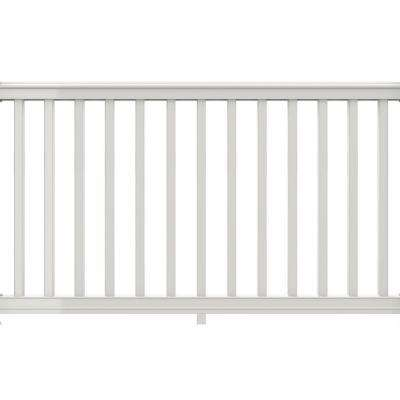 Premier Series 6 ft. x 42 in. White PolyComposite Rail Kit with Square Balusters
