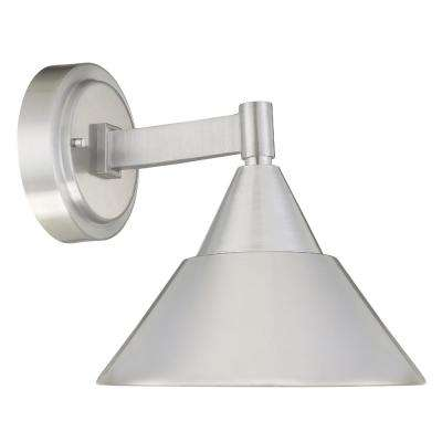Fremont 11-Watt 10 in. Brushed Aluminum Outdoor Integrated LED Wall Mount Lantern