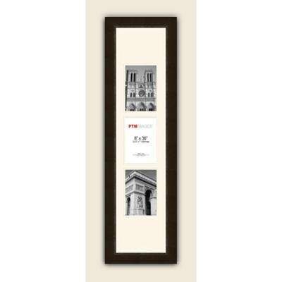 3-Opening Vertical 5 in. x 7 in. White Matted Espresso Photo Collage Frame