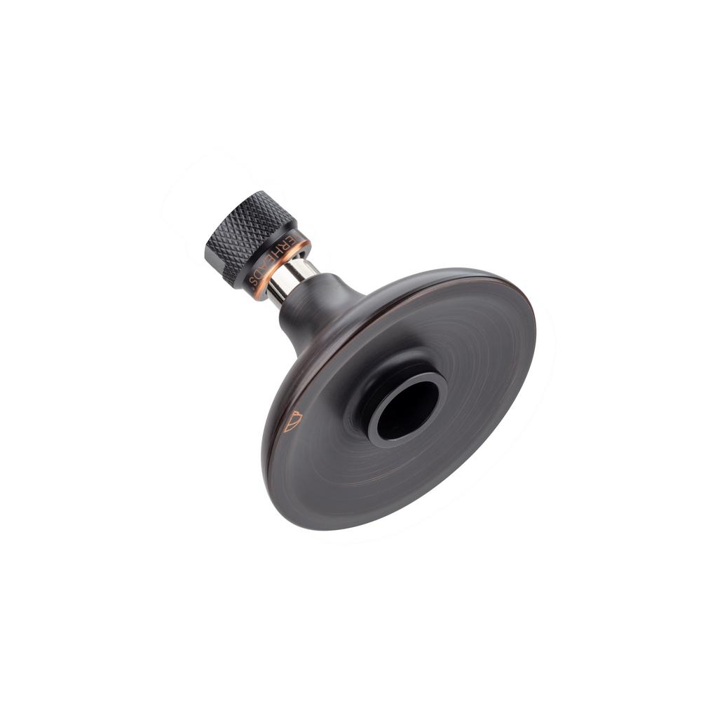 High Sierra Showerheads Half Dome 1-Spray 3.25 in. Fixed Round High Pressure Premium Showerhead with All Metal Construction in Oil Rubbed Bronze