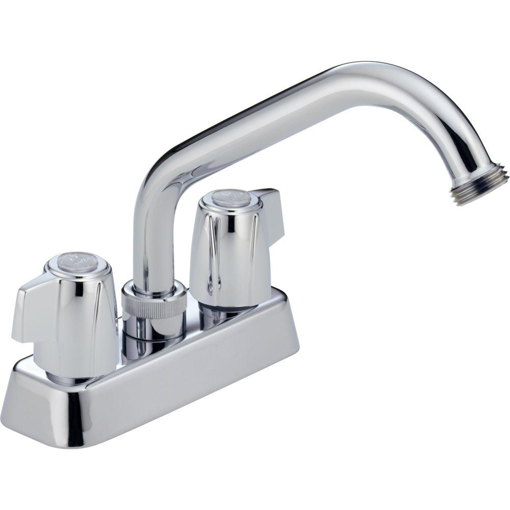 Peerless Core 4 in. Centerset 2-Handle Bathroom Faucet in Chrome ...
