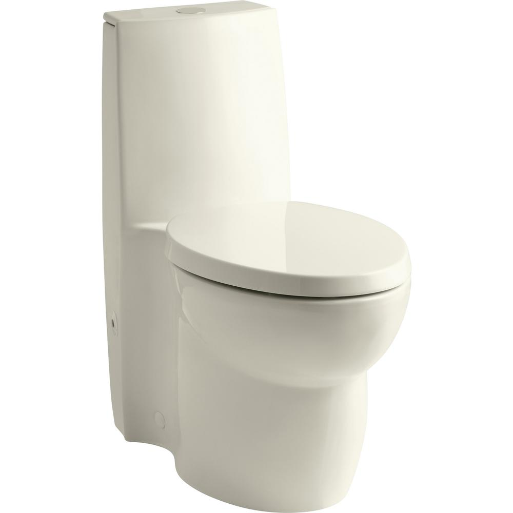 KOHLER Saile 1-piece 0.8 or 1.6 GPF Dual Flush Elongated Toilet in on
