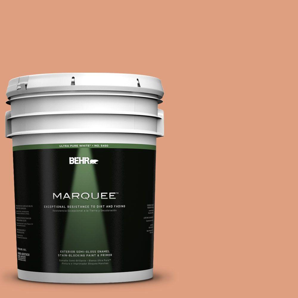 BEHR MARQUEE 5-gal. #230D-4 Pecos Spice Semi-Gloss Enamel Exterior Paint
